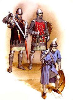 • Albrecht von Hohenlohe, c. 1325  • Otto von Orlamunde, c. 1340  • Infantryman, mid-14th C