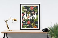 Aloha / / Print Typography motivation Print par TheNativeState