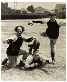 The Three Stooges. I don't much care for them but my husband luvs them and I luv seeing and hearing my husband laugh, so I guess in part I do luv the Stooges. The Stooges, The Three Stooges, Nfl Memes, Football Memes, Rugby Memes, Cowboys Memes, Buckeyes Football, Football Season, College Football