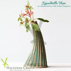 Hacienda Crafts Co. Natural Materials, Sustainability, Glass Vase, Eco Friendly, Environment, Bows, Shapes, Nature, Flowers