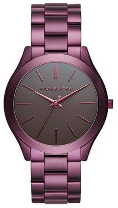 MICHAEL Michael Kors 'Slim Runway' Bracelet Watch 42mm #watches #womens