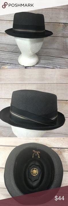 Vintage Stetson Fedora Panama Hat oval 7 Vintage Stetson Fedora Panama Hat Type: Hat Style: Fedora Brand: Stetson Material: Genuine Panama Straw Color: Black Size: Long Oval 7 Measurements: Upon request Condition Notes: No wear on the outside. Slight wear on in the inside rim of hat (see pictures).  Details: Classic Fedora by Stetson. Made of genuine panama straw. Has a plaid ribbon around it as decoration. Stetson Accessories Hats