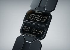 The Casio E Series Concept Watch Has Throwback Rectangularity with Edge #eink trendhunter.com