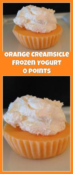 weight watchers best recipes | Orange Creamsicle Frozen Yogurt 0 points - ww recipes