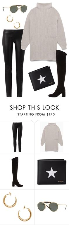 """""""Untitled #2123"""" by kellawear on Polyvore featuring The Row, Yves Saint Laurent, Givenchy, Maison Margiela and Ray-Ban"""