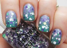 Adventures In Acetone: Elevation Polish Gradient and Glitter Combo!