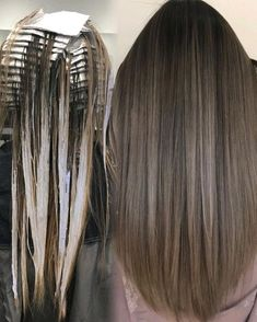 """@susan.aw on Instagram: """"Placement & process End results. In foils: 10vol babylights, open-air hand painted w/ 20vol.. Lightener/treatment: @f18hair Color/gloss: @kenraprofessional, @schwarzkopfusa Tools: @framarint Violet shampoo: @oligopro @oobaliepro"""