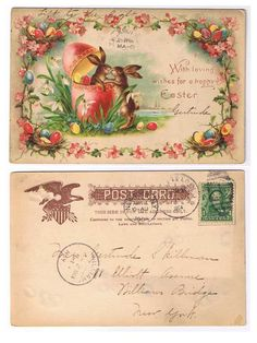 Antiques from the web Easter Hold to Light Postcard 1904 Undivided back
