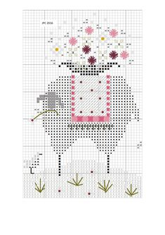 Sheep Cross Stitch, Cross Stitch Animals, Cross Stitch Charts, Cross Stitch Designs, Cross Stitch Patterns, Cross Stitching, Cross Stitch Embroidery, Embroidery Patterns, Cross Stitch Freebies