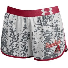 MLB Arizona Diamondbacks Under Armour Women's Tied Up Performance Running Shorts - Gray