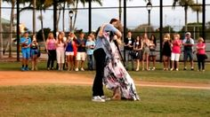 Everyone is catching spring fever as baseball season is just around the corner. One couple in Pompano Beach, Florida had a unique way of getting into the swing of the season by hitting a baseball in front of family members that will reveal the gender of their child. Taking to the baseball diamond, the pregnant wife threw a ball filled with powder at her husband who was up at bat. On the first pitch, he made contact and blue powder rained down on the field, the couple is having a boy. (Photo…