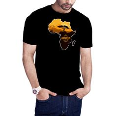 Men's Africa Map t-shirt African Safari African Safari I love Africa map African pride t-shirt by Calidreamers on Etsy