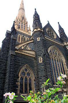 Eastern view of St Patricks in Melbourne, Australia