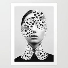 butterfly, woman