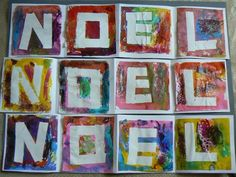 Use painter's tape, or stickers, etc then just add paint-make any letters or word. Would be cute in a child's room, or on a banner for a holiday/ birthday