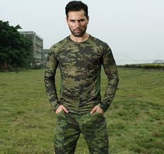 Chiefs Tight Camo Long Sleeve Tactical Running Shirt(MCTP) #airsoft #365airsoft