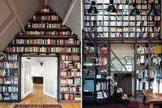 Attic library room. What a marvelous use of space.