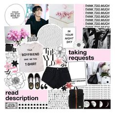 """""""{ taking requests♡ ] 1O75   i've been here times before but i was too blind to see~"""" by wintervale ❤ liked on Polyvore featuring Bershka, MAKE UP FOR EVER, Herschel, ASOS, Vans and SHAN"""
