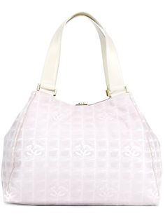 Shop Chanel Vintage logo jacquard tote in Decades from the world s best  independent boutiques at farfetch · White Tote BagWhite ... efbde3e3d0176