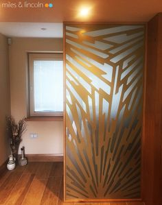Laser cut screen - Room divider -  Splinter design by Miles and Lincoln. www.milesandlincoln.com