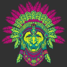 Psychedelic Indian T Shirt By Palehorse Design By Humans