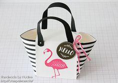 Stampin' Up! Anleitung Tutorial Handtasche Handbag mit dem Stanz und Falzbrett für Umschläge (Envelope Punch Board)
