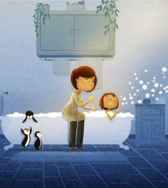 16 hermosas y tiernas ilustraciones dedicadas a nuestras mamás | Upsocl