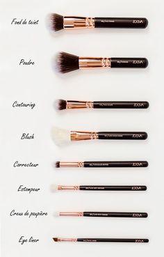 Makeup Ideas: Kit de pinceaux Zoeva  Anais Cassis Framboise