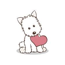 Resultado de imagen para west highland white terrier dibujo
