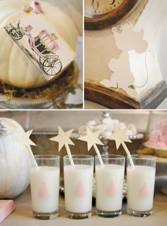 Charming Vintage Cinderella Birthday Party {on a budget!} // Hostess with the Mostess®  Princess theme birthday party ideas and inspiration- invitations, decorations, cake, cupcakes, favors, dessert table
