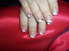 hearts on french tips
