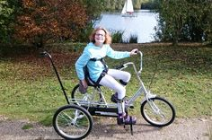 "11-year-old Sally is cycling independently for the first time, thanks to a new therapy #trike!  ""The trike has made Sally so happy. We were out in Clumber Park, the northern part of Sherwood Forest, at the weekend and she couldn't stop smiling, it was so good to see"". Explains Sally's dad, Richard.  Read all about the difference the #tricycle has made here: www.caudwellchildren.com/sallydamelionews"