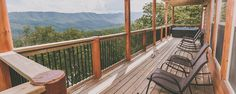 The view from up here is grand.   Featured Cabin: Splashin' in the Smokies