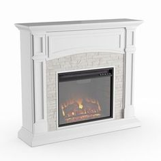 Shop for Copper Grove Helliwell White Faux Stone Electric Media Fireplace. Get free delivery On EVERYTHING* Overstock - Your Online Home Decor Outlet Store! Get in rewards with Club O! Media Fireplace, Faux Fireplace, Fireplace Mantels, Wood Mantel Shelf, Black Electric Fireplace, Direct Vent Fireplace, Wood Burning Fireplace Inserts, Hidden Shelf, Pellet Stove
