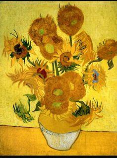 48. Vincent van Gogh, i girasoli 1889 m 0,95x0,73 tela Amsterdam stedelijk m
