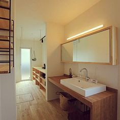 Bathroom/照明/洗面所/飾り棚/ミラー/男前...などのインテリア実例 - 2016-11-15 11:51:47