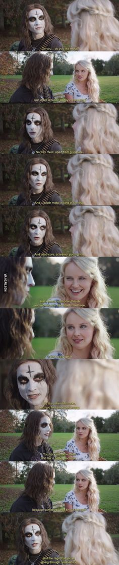 What it's like to explain someone what is Metal (movie: Deathgasm)