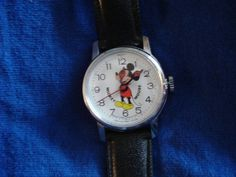 Vintage Mickey Mouse Wind Up Watch By by LFTreasuredCreations, $30.00