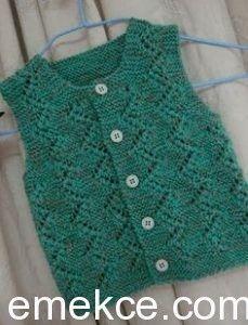 Yellow baby vest,knit baby girl vest, winter trends by likeknitting on Etsy Baby Knitting Patterns, Knitting For Kids, Baby Patterns, Baby Pullover, Baby Cardigan, Baby Girl Vest, Baby Dress, Knit Vest Pattern, Kurta Neck Design