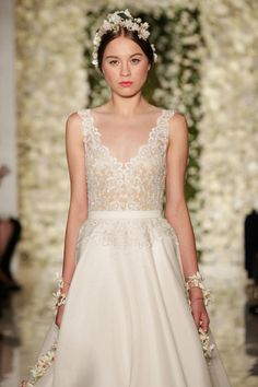 Reem Acra for bridal week 2014: http://www.stylemepretty.com/2014/10/16/favorites-from-bridal-week-fall-2015/