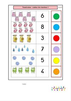 La couleur des émotions : numération avec les logicos – MC en maternelle