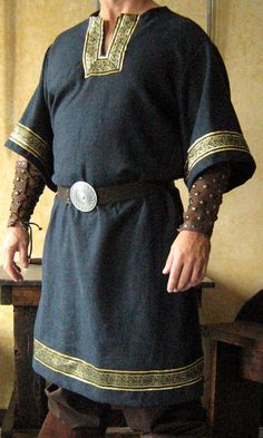 Medieval Celtic Viking Mid-Arms Sleeves Shirt Deluxe. $79.99, via Etsy.