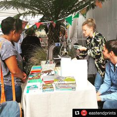 #Repost @eastendprints  Last day of the design fair today!  Come along 10-5 at @Fount_London down westgate street #londonfields @wainwrightbookbinding