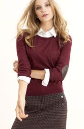 take this girl's face off. I want to be an English professor. And wear cute stuff like this.