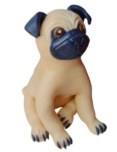 Dog fondant cake topper. Edible figurine of a pug. Fondant pet for a cake. by 101cakes on Etsy