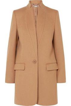 Stella McCartney - Bryce Melton Wool-blend Coat - Camel Fall and Winter Coat Beige Coat, Camel Coat, Stella Mccartney Coat, Cashmere Fabric, Cashmere Coat, Glitz And Glam, Mode Hijab, Coat Dress, Wool Coat