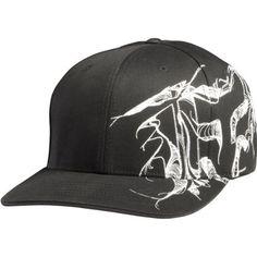 Fox Racing Contour Mens Flexfit Fashion Hat/Cap   Color Black, Size