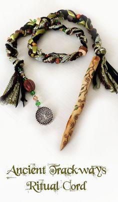 Ancient Trackways Ritual Cord  pagan shaman by MoonsCraftsUK