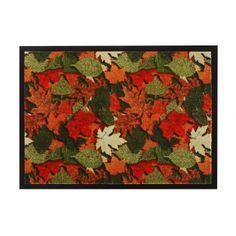 C'est bientôt l'automne ! Tapis anti-poussières décor feuilles d'automne… #Blancheporte
