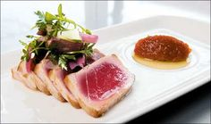 Seared tuna with pickled ramps